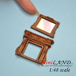 1:48 Scale Fireplace and mirror Walnut