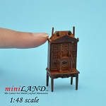 1:48 Scale Dollhouse for dollhouse Walnut with table