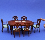 Victorian Dinning room set 7pcs DollHouse miniature1:12 quality carved wood