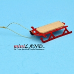 Red Sledge Dollhouse miniature 1:12