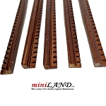 Walnut Dental Crown Molding dollhouse miniature trim 1pc, 50cm x 10x7mm Hardwood Oak