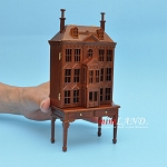 Victorian Dollhouse for dollhouse with table walnut 1:144 scale -Top Quality