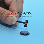 Auction judge hammer with base dollhouse miniature 1:12 scale MH