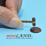 Auction judge hammer with base dollhouse miniature 1:12 scale NWN