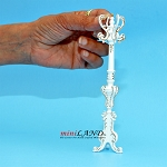 Victorian coats and  hats rack stand dollhouse miniature 1:12 scale White GPB