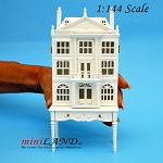 Colonial  DOLLHOUSE FOR DOLLHOUSE WITH TABLE WHITE 1:144 scale -Top Quality
