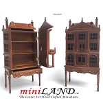 Colonial  DOLLHOUSE FOR DOLLHOUSE WITH TABLE WALNUT 1:144