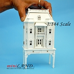 Georgian DOLLHOUSE FOR DOLLHOUSE WITH TABLE WHITE 1:144 scale -Top Quality
