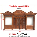 The Duke - Quality wooden store front facade  1:12 scale roombox dollhouse miniature walnut
