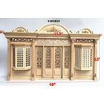 The Archduke - Quality wooden store front facade  1:12 scale roombox dollhouse miniature
