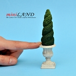 "Topiary Twirl 3-5⁄8""H  for dollhouse miniature 1:12 scale"