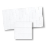 Gloss White Floor Tiles  for dollhouse miniature 1:12 scale - one sheet