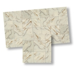 Faux Marble Tiles for dollhouse miniature 1:12 scale - one sheet