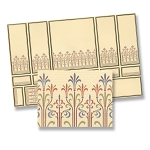 Deco Wall Panel Section for dollhouse miniature 1:12 scale - one sheet
