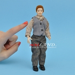 x030 Heidi Ott Dolls House Doll, Man in Shirt and Waistcoat