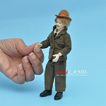 x078 Heidi Ott Dolls House Doll, Man in Brown Suit