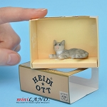 XZ560 Cat by Heidi Ott For dollhouse miniatures 1:12 scale
