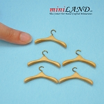 Wooden Clothes hanger 5pcs High quality for dollhouse miniature 1:12 GO