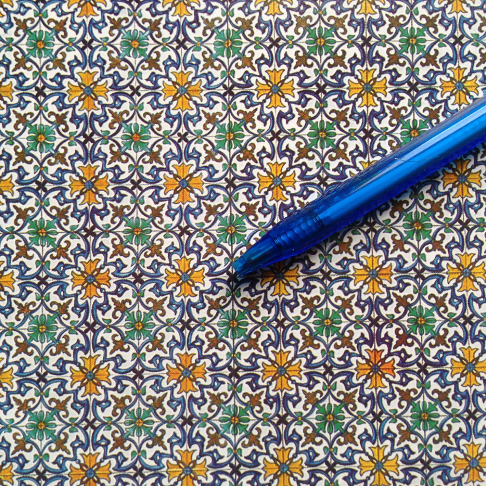 seixas pattern spanish tile floor for you dollhouse 1 12 scale
