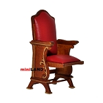 Miniature SINGLE THEATRE CHAIR dollhouse cinema 1:12 red leather