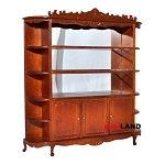 Quality Showcase Curio Cabinet 5825WN shelves dollhouse miniature 1:12 scale