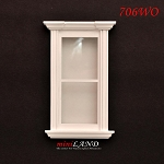 Plain Single Window dollhouse miniature 1:12 white 706wo