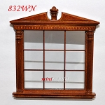 Carved Double Window Corinthian dollhouse miniature 1:12 walnut