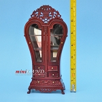 Heart Display Royal France Cabinet wood MH dollhouse miniature 1:12