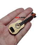 Acoustic guitar for 1:12 Scale dollhouse miniature wood