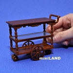 Tea Trolley Cart Quality Liquor service walnut