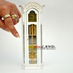 Working Dollhouse Miniature Grandfather Clock white V4010C-GPB