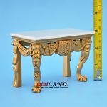 Quality Early 19th Century Giltwood Table with real Marble Top Dollhouse Miniature 1:12
