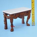 Quality Early 19th Century Walnut Table with real Marble Top Dollhouse Miniature 1:12