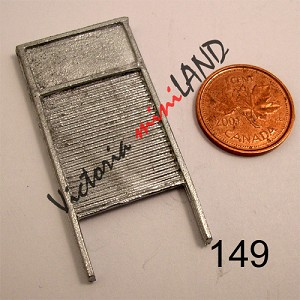 "OLD FASH WASHBOARD 1-1/2""H unfinished DIY metal miniature for dollhouse - Do it yourself"