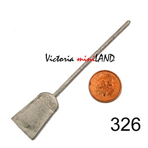 "KITCHEN BROOM 3-3/4""L unfinished DIY metal miniature for dollhouse - Do it yourself"