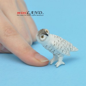 "Owl 1-1⁄4""H, 1-1⁄2""L for 1:12 scale dollhouse miniature"