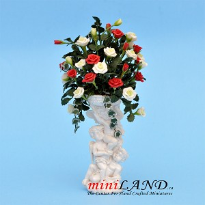 Grand Arrangement Roses for dollhouse miniature 1:12 scale