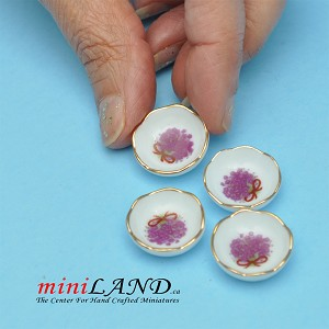 4 Bowls A0018 for dollhouse miniaturize 1:12 scale