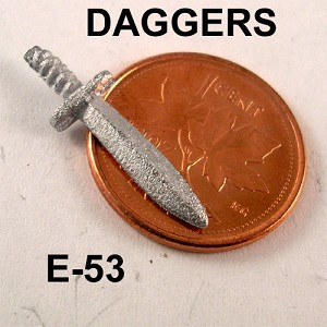 "DAGGERS  1""L unfinished DIY metal miniature for dollhouse - Do it yourself"