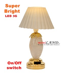 White table light LED Super bright with On/off switch