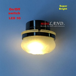 BLACK Ceiling lamp  frosted shade light  LED Super bright with On/off switch