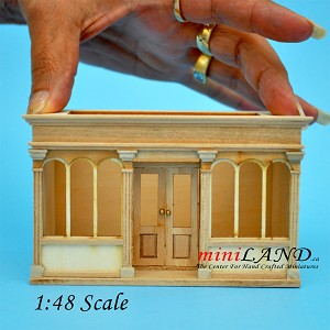 1:48 scale LANDYGO STORE ROOMBOX DOLLHOUSE QUICK ASSEMBLY KIT, UNFINISHED