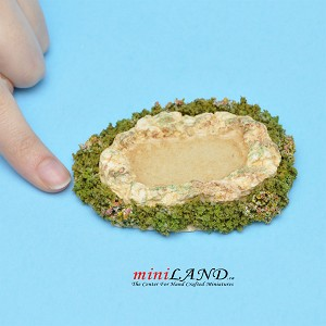 "Pond Hand Sculptured 3""W x 2-1⁄8""D  for 1:12 scale dollhouse miniature"