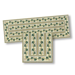 Mosaic Floor Tile Borders for dollhouse miniature 1:12 scale - one sheet