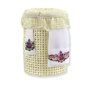 1.765/8 Laundry Basket  Reutter Porzellan Dollhouse miniature 1:12