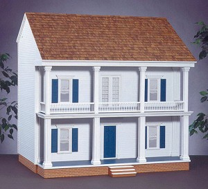 "Mulberry Dollhouse Kit 32""W x 23""D x 32""H - 10 Rooms Smooth Plywood"
