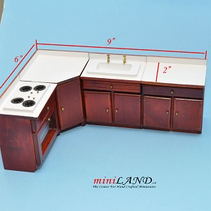 Clearance sale - Economy Kitchen Room Set 4pcs for dollhouse miniature 1:12 scale