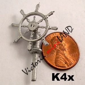 "Steering wheel of a ship 1-1/2""L unfinished DIY metal miniature for dollhouse - Do it yourself"