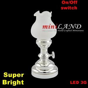 Large silver Tulip  Table Lamp LED Super bright with On/off switch