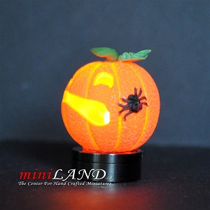 Halloween Pumpkin bright battery LED LAMP 1:12 on/off switch hop08